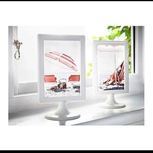 "(3) IKEA 4""x6"" White Frame Double Sided"